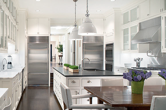 Two white kitchens in new york city cococozy for New york style kitchen design