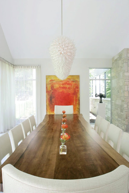 See this house white on white in a modern hamptons for Modern paintings for dining room