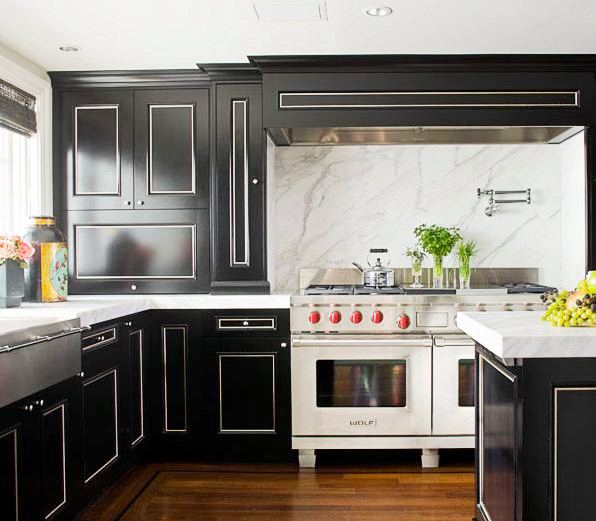 Kitchen With White Cabinets And Wood Trim: SLAB IT UP - KITCHEN MARBLE!